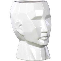 Urban Trends Ceramic SM Face Flower Vase