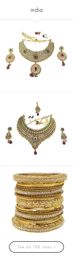 """india"" by sajairaq ❤ liked on Polyvore featuring jewelry, earrings, white stud earrings, white stone earrings, stone earrings, red jewelry sets, red stone earrings, red stone jewellery, stone jewelry and gold plated jewelry"