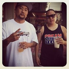 """Roy """"Papi"""" Choi of LA's Kogi truck & Eddie Huang of NYC's lower east side Baohaus."""