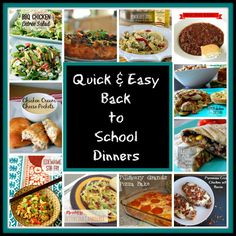 quick and easy back to school dinners Delicious Dinner Recipes, Snack Recipes, Yummy Food, Pork Recipes, Yummy Treats, Recipies, O Taste And See, Quick Easy Dinner, Dinner Entrees