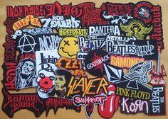 Lot of 40 Iron On Patch Sew Wholesale Music Band Metal Punk Rock n Roll DIY    TT 6ac4119eb8
