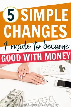 5 Simple Changes I Made to Become Good With Money After the tears stopped, I resolved to fix my finances. The first step was developing a money mindset to tackle debt and start saving. Make More Money, Ways To Save Money, Money Tips, Money Saving Tips, Money Hacks, Money Budget, Earn Money, How To Be Smart, Savings Plan
