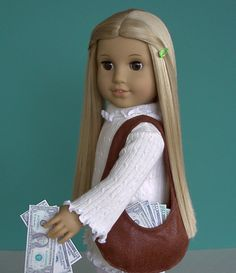 Some Money for Your Hobo Bag | Doll Clothes Patterns
