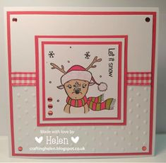 Using 'Reindeer Snowflake' from Little Claire Designs