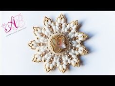 ▶ DIY Tutorial | Sunburst Pendant - Ciondolo superduo, twin, rivoli 18mm, delica e rocailles (parte 2) - YouTube