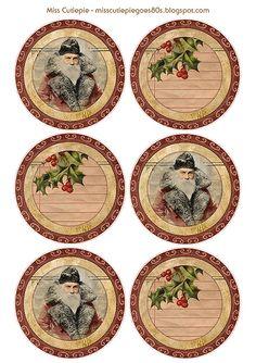 FREE Printable Vintage Style Christmas Tags