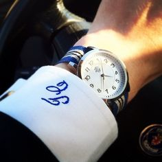 like the monogram on the cuff.