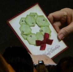 HexagonWreath Stampin Up! Convention 2013