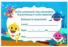 baby shark invitation to edit Shark Party, 2nd Baby, Baby Shark, Anniversary Parties, Cute Baby Animals, Cute Babies, Mickey Mouse, Baby Shower, Invitations