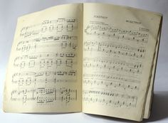 Soviet dance music notebook sheet music book for by SovietEra, $12.00