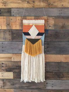Geometric Handmade woven wall art / woven wall hanging by SunWoven