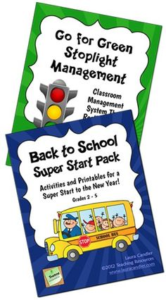 Back to School Super Start Combo from Laura Candler - Includes the Back to School Super Start Pack and Go for Green Stoplight Management System. Save $ when you purchase both together!