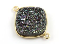 Deep Marine Green Sparkly Druzy CrystalCushion by Beadspoint, $10.99