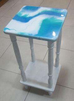 cute little side table perfect for a cup of coffee by me