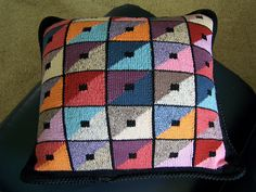 Free Pattern: Triangle Squares Cushion by Kaffe Fassett