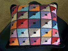 Free Pattern: Triangle Squares Cushion by Kaffe Fassett