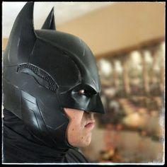 Arkham Hybrid Cowl by DarkKnightFX Cool Motorcycle Helmets, Cool Motorcycles, Riding Helmets, Batman Beyond Cosplay, Batman Cosplay, Batman Armor, Batman Suit, Arkham Knight, Batman Arkham