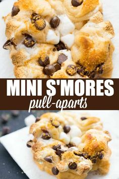 Mini S'mores Pull-Aparts - Rich, sweet and so easy to make! Whip up a batch in minutes with only four ingredients you probably already have at home.