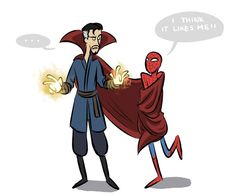 Spider-Man and Dr. Strange