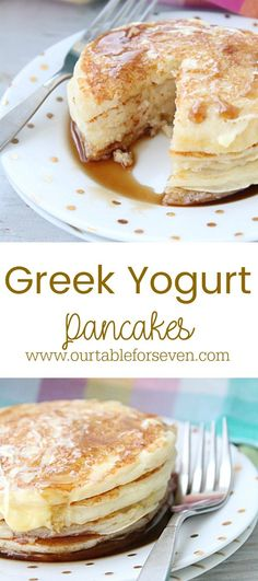 Greek Yogurt Pancakes from Table for Seven