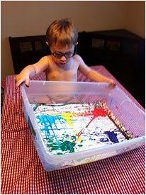 schilderen met knikkers