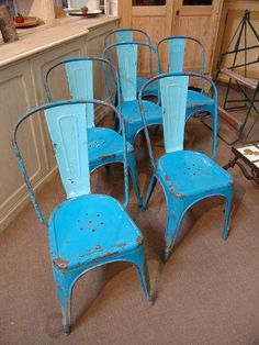 vintage french tolix chairs