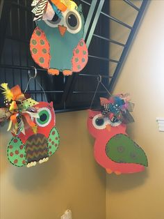 These cute owls can either be chalkboards or I can seal them for outdoor/indoor use