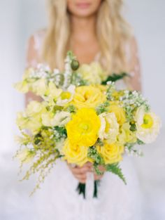 View entire slideshow: The Sunniest Golden Bouquets To Brighten Your Day on http://www.stylemepretty.com/collection/2922/