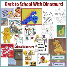 Back to School with Dinosaurs preschool and kindergarten activities and crafts