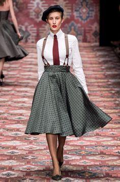 Fashion Shows - Lena Hoschek Berlin Herbst/Winter 2019 - Kollektion 2020 Fashion Trends, Fashion 2020, Retro Fashion, Fashion Show, Vintage Fashion, Berlin Fashion, Cheap Fashion, Vogue Paris, Retro Mode