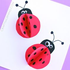 Lady bug craft ideas for kids, kindergarten, preschoolers, and adults. Ladybug crafts using paper plates, egg cartons, bottle caps, rocks. Fun, easy craft activities for kids, making ladybug insects.