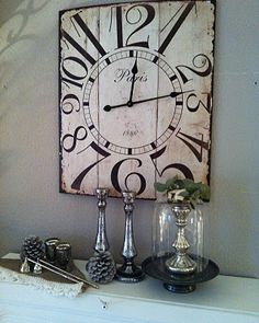 I have a vintage  art deco watch with a dial like this...now I want to create a piece of wall art for my dining room like this.  LOVE it !!