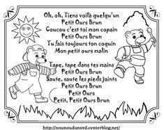 chanson petit ours brun illustrée par nounoudunord