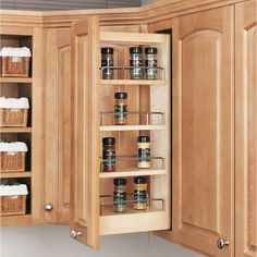 Buy the Rev-A-Shelf Natural Direct. Shop for the Rev-A-Shelf Natural 448 Series 9 Inch Upper Wall Cabinet Pull Out Shelves and save. Kitchen Cabinet Pulls, Kitchen Cabinet Organization, Storage Cabinets, Kitchen Storage, Cabinet Organizers, Food Storage, Kitchen Organizers, Pantry Shelving, Cabinet Ideas