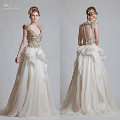 Wholesale A-Line Wedding Dresses - Buy 2013 Fall Scoop Golden Appliques A Line Cap Sleeve Wedding Dresses In Dubai Arabic Wedding Dress 2013...