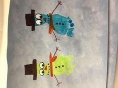 Boy baby feet snowmen!!!
