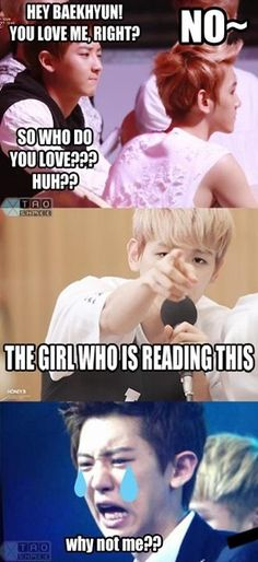 OMG aww so cute baekyeol<3