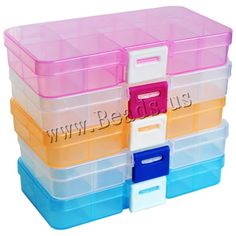 10 Slots Adjustable Transparent Jewelry Storage Box Ring Earring Drug Pill Beads Portable Plastic Organizer Case Travel Bins-in Jewelry Packaging & Display from Jewelry & Accessories on Aliexpress.com | Alibaba Group