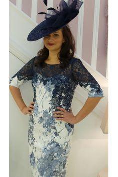 134 John Charles Midnight Blue Print Dress