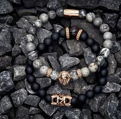 The Zorrata grey jasper rose gold lion bracelet. Get your last minute holiday gifts at www.zorrata.com