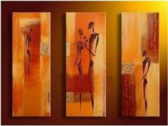 Abstract Figures Painting Decoration Unstretch