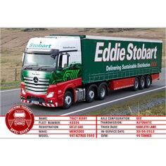 Welcome to This week we have Tracy Kerry. Mercedes Benz Commercial, Eddie Stobart Trucks, Mercedes Truck, Career Ideas, Countryside, Planes, Trains, Tuesday, Transportation