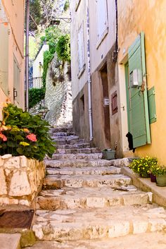 Street with Cat, Ventabren Provence by chanteuse1, via Flickr