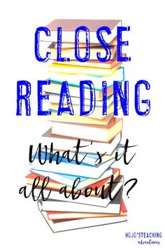 Are you struggling with Close Reading in your elementary classroom? Reading Groups, Reading Strategies, Reading Activities, Reading Comprehension, Reading Resources, Close Reading, Guided Reading, Teaching Reading, Teaching Tips