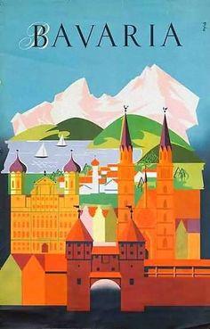 Bavaria, Germany _________________________ #Vintage #Travel #Poster