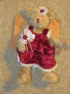 Be My Valentines Bear Angel is an 8 inch bear by CaysCollectibles