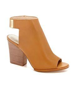 Calvin Klein Welsie Peep-Toe Booties | Dillards.com