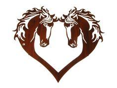 Love of Horses Metal Wall Sculpture