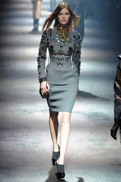 Lanvin- this gets pinned just because it sparkles like mad down the runway.