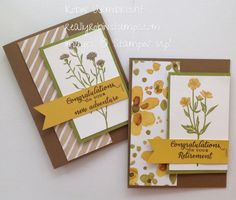 Stampin'Up! Wild About Flowers stamp set, English Garden DSP, retirement card, reallyrobinstamps.com
